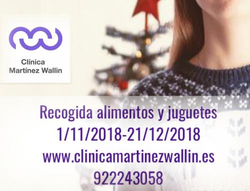 Ayudanos a ayudar, campaña de recogida de alimentos  y juguetes Clínica Martínez Wallin